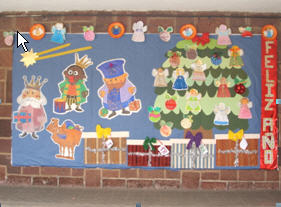 Panel decorativo de navidad 1er ciclo c e i p for Mural navideno